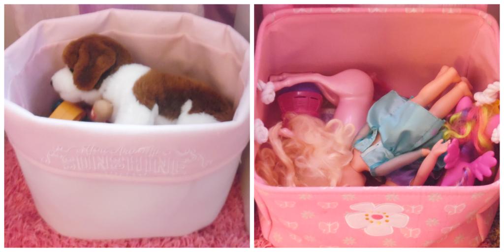 girls room bins