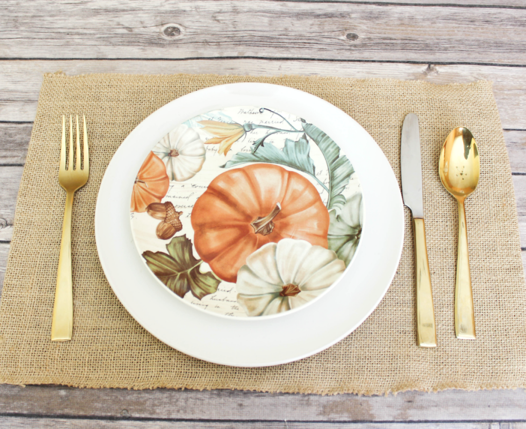 DIY Burlap Placemats - Fall & Autumn Table Decor - At Home With Zan