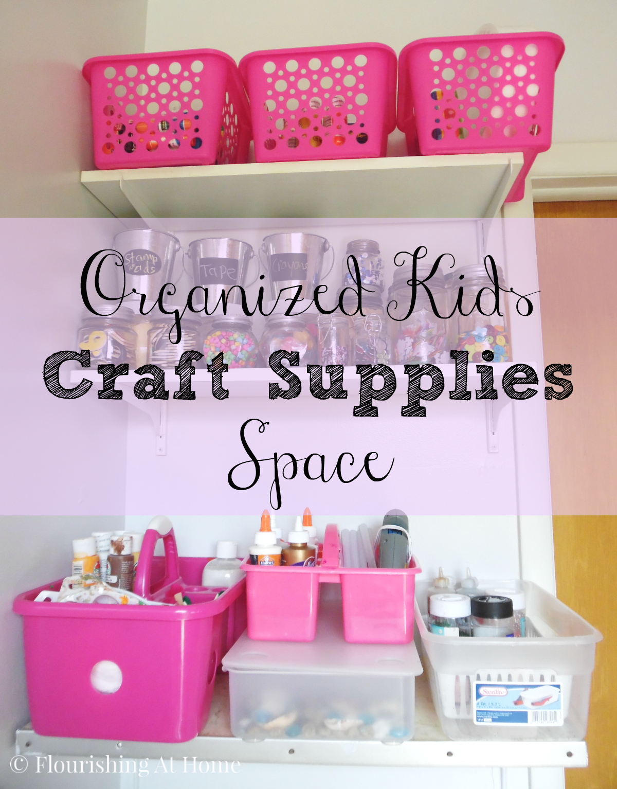 Organizing a kids craft supply space for fall at home with zan - Organizing craft supplies in small space collection ...