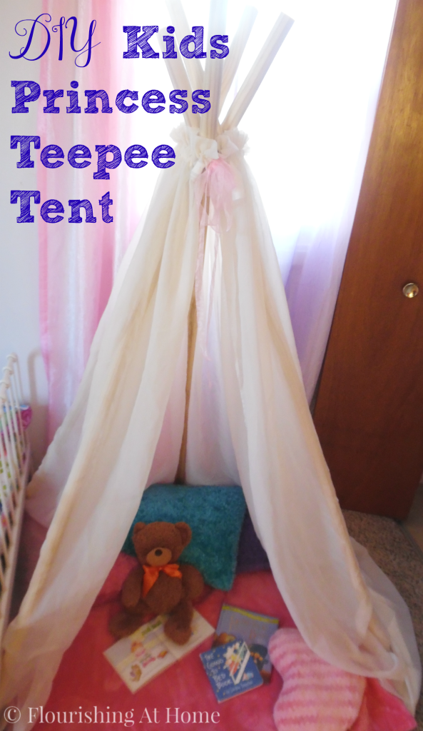 DIY Kids Princess Teepee Tent