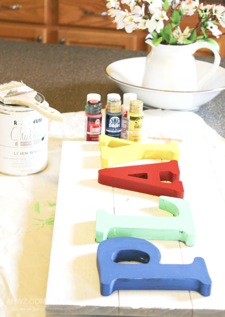 Painting Letters for Playroom