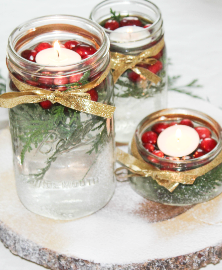 diy-holiday-centerpiece-greenery-with-fake-snow