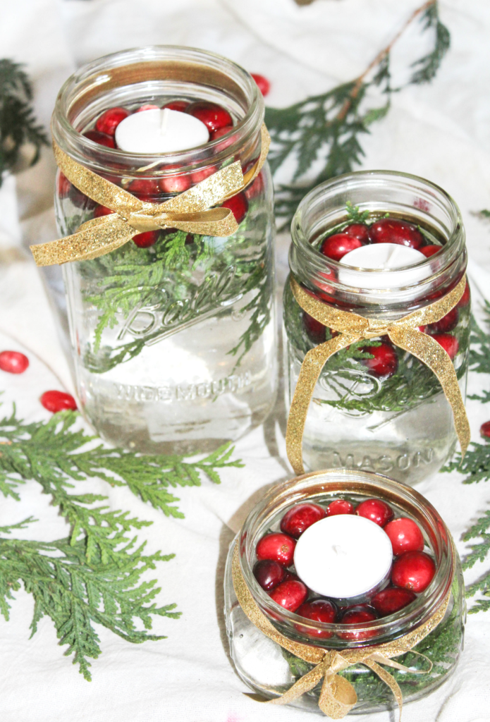diy-holiday-centerpiece-with-ribbon