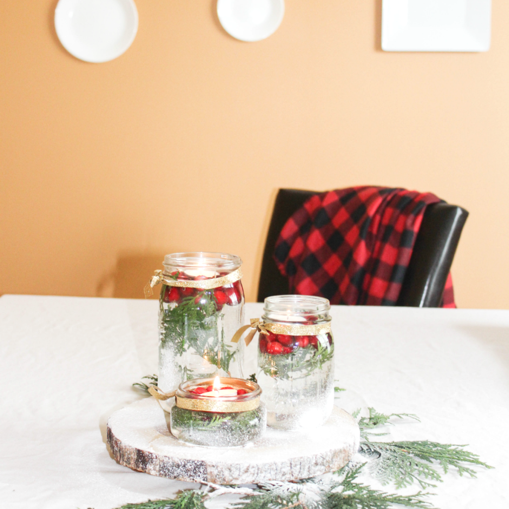 Floating Candle Holiday Centerpiece