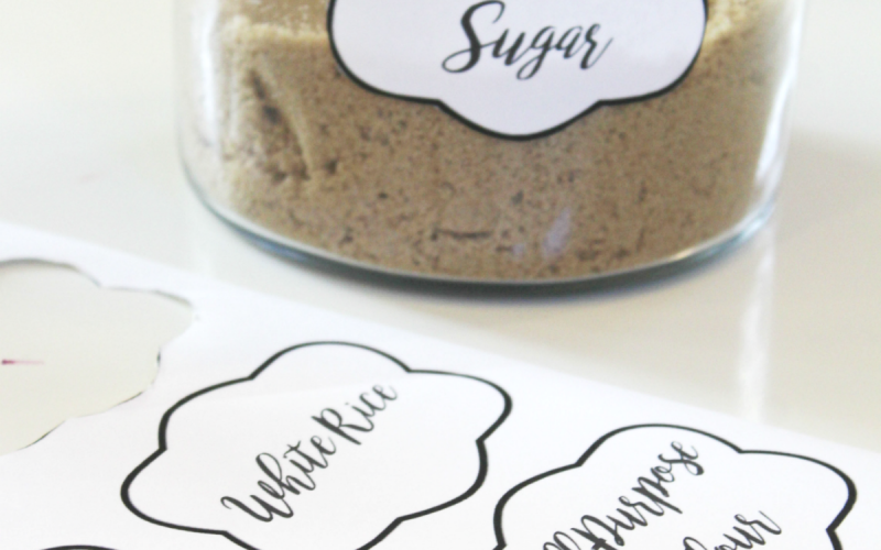 Food Jar Labels – Organize Your Pantry & Food Cupboards