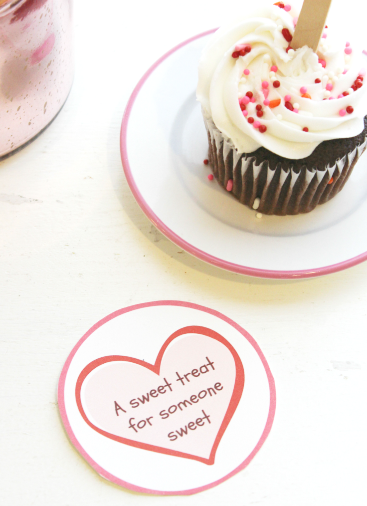 Valentines Day Sweet Treat Cupcake Topper