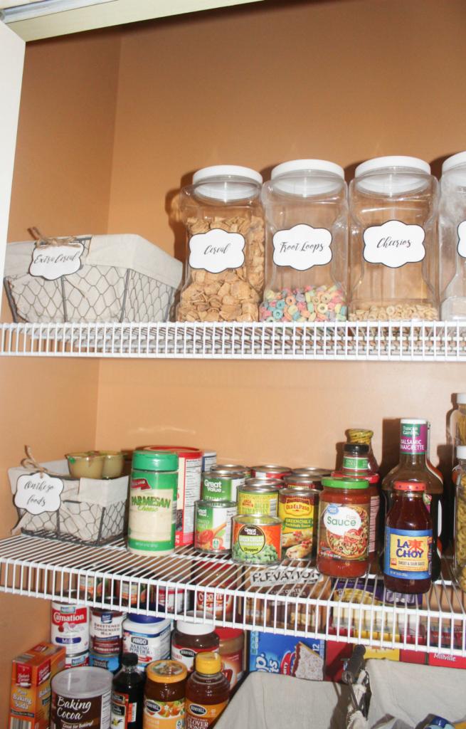 pantry organizing - cereal jars