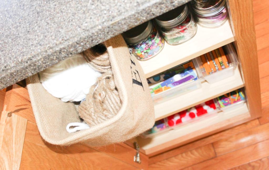kitchen drawer organization - craft supply drawers