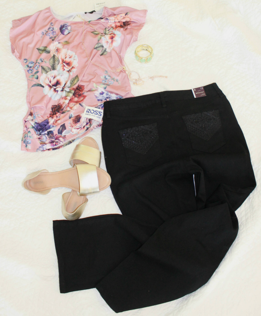 Fashion Finds - Floral Top & Black Denim - Casual looks for Spring