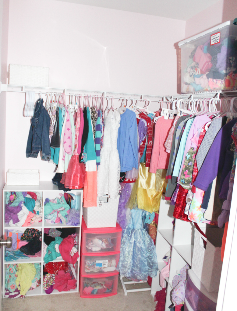 girls room and closet space
