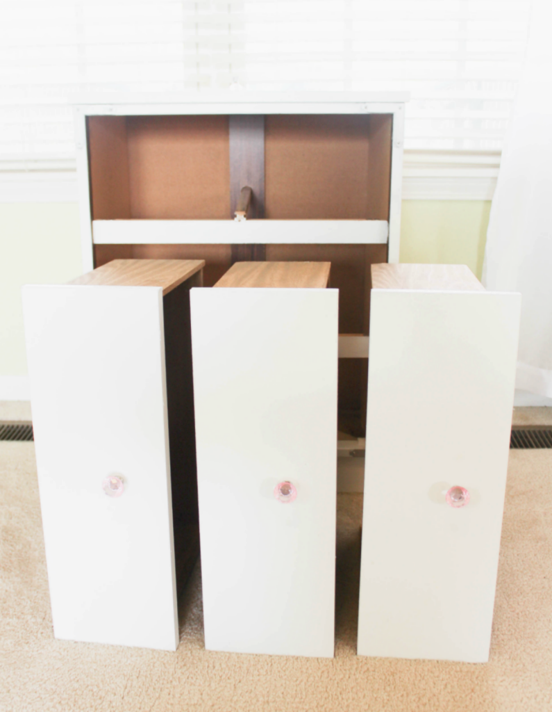 Dresser Makeove -Drawers - At Home With Zan
