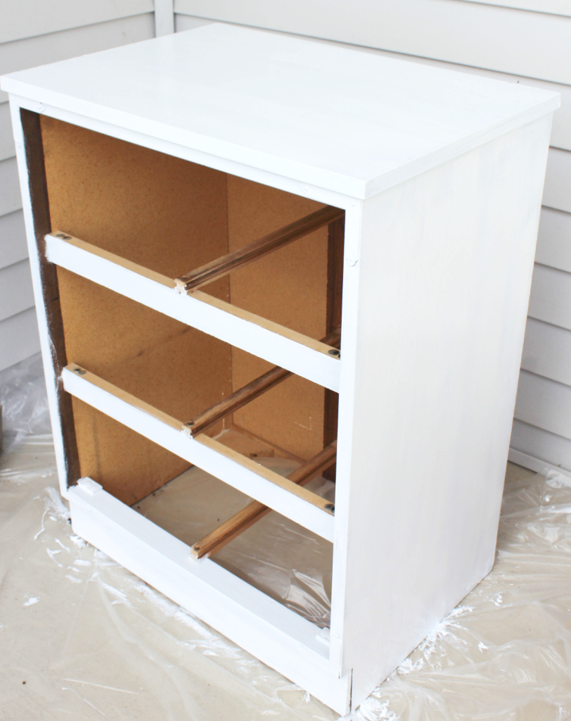 Dresser Makeover - Apply Paint - At Home With Zan