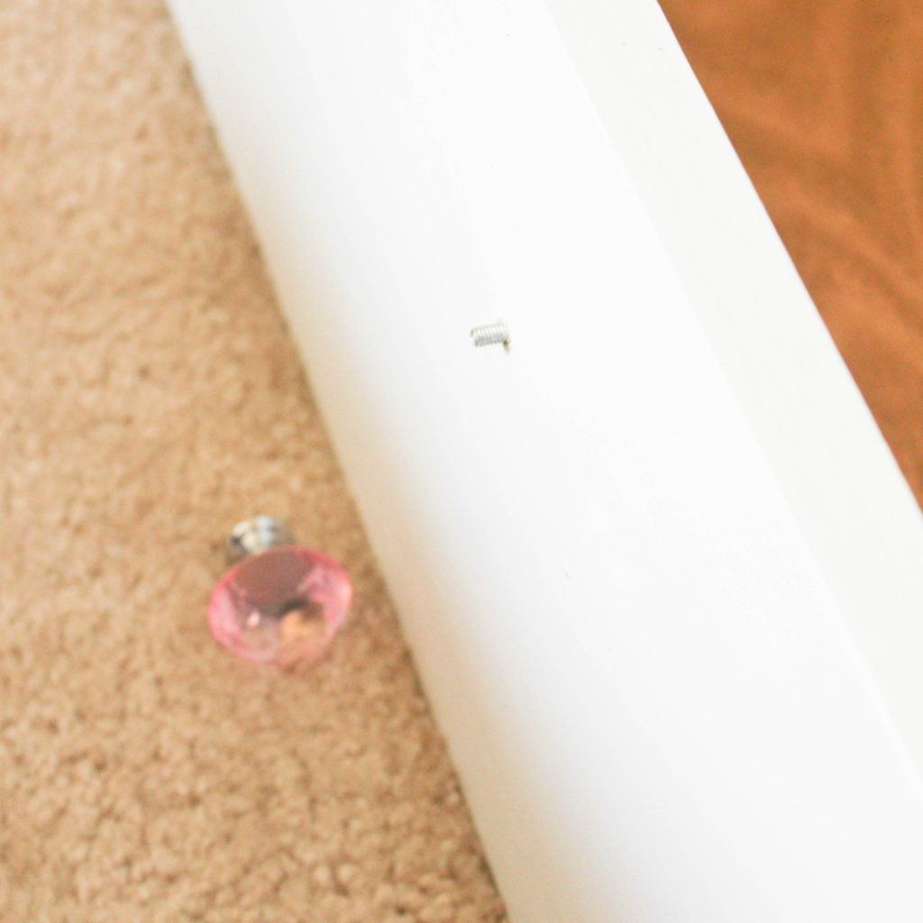 Dresser Makeover - Drawer Pull - At Home With Zan