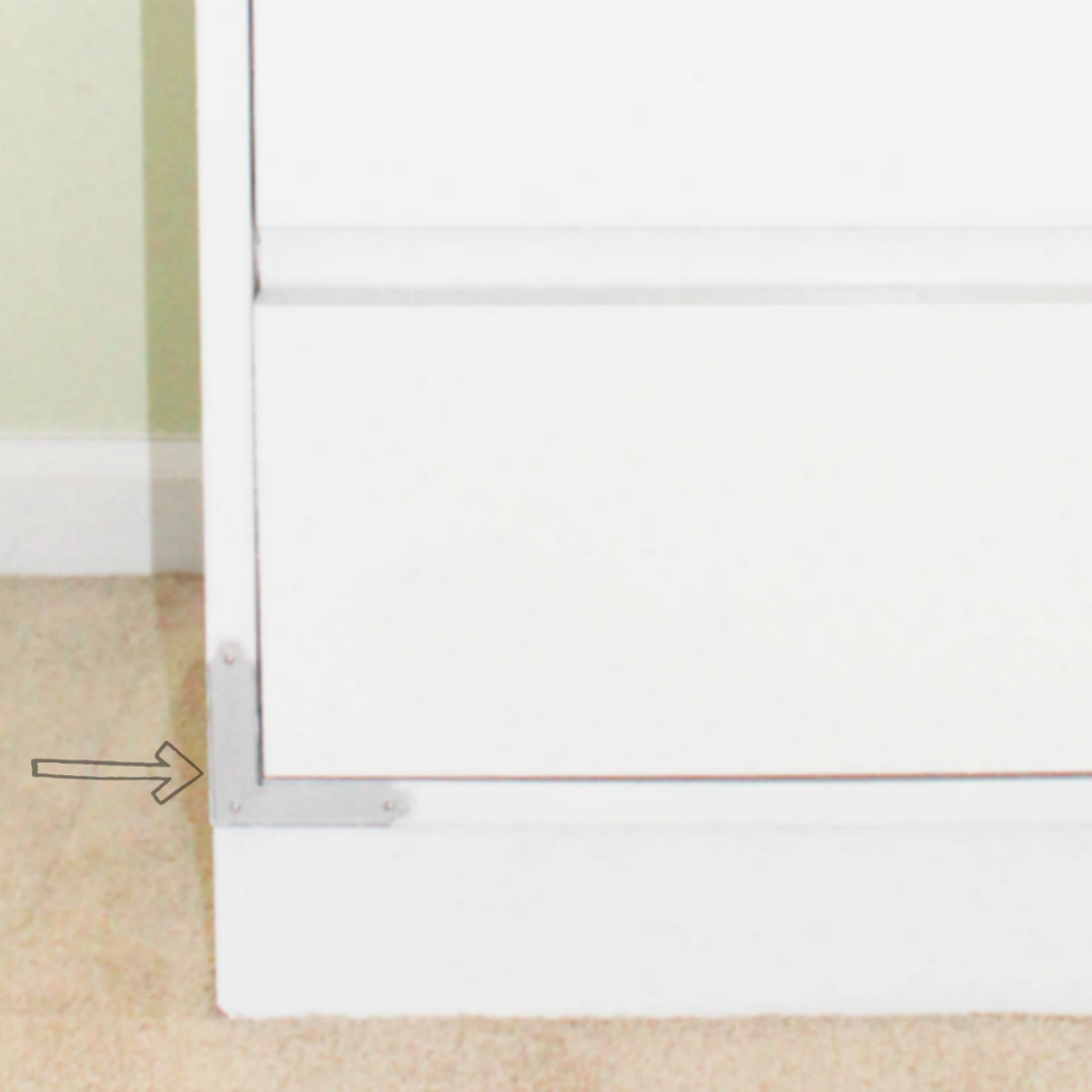 Dresser Makeover - Metal - Silver - At Home With Zan