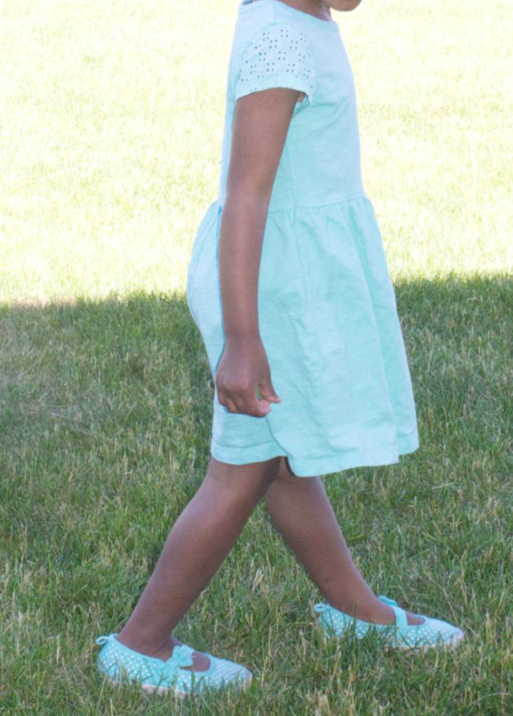 Kids Fashion - Green Summer Dress - At Home With Zan -