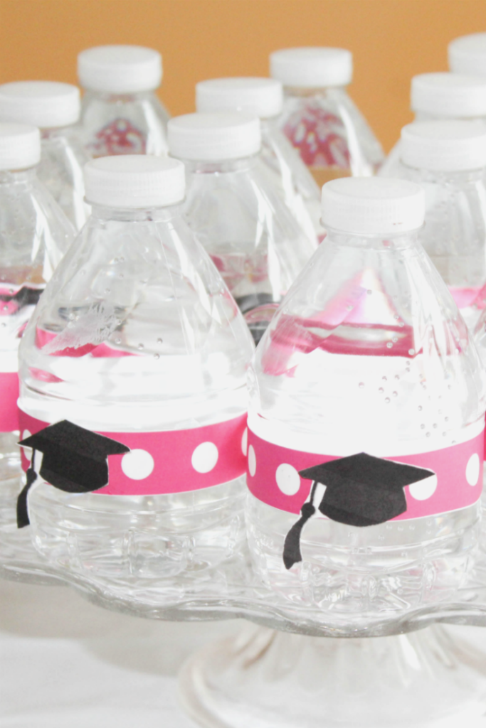 Kindergraduation Party - DIY Water Bottle Labels - At Home With Zan