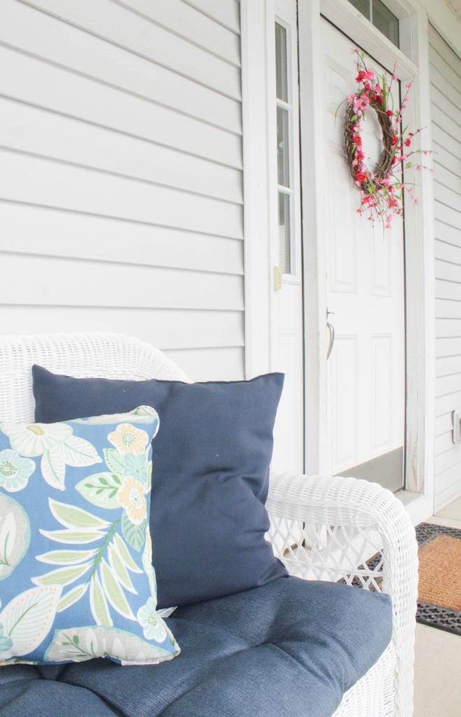 Summer Wreath - Spring Wreath - Porch Decor - At Home With Zan