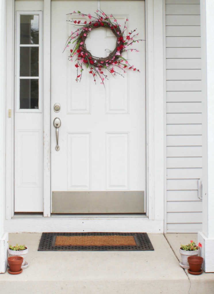 Summer Wreath - Spring Wreath - Porch Decor - Potted Plants - At Home With Zan -
