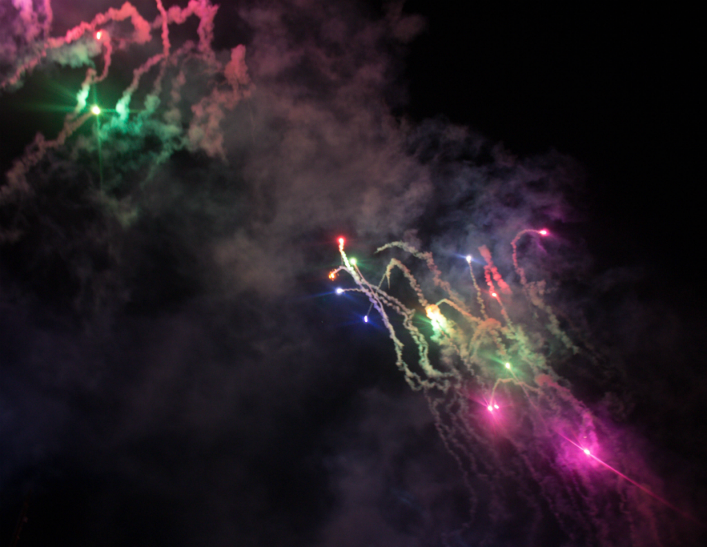 Orlando Vacation - Disney's Magic Kingdom - Night Fireworks - At Home With Zan -