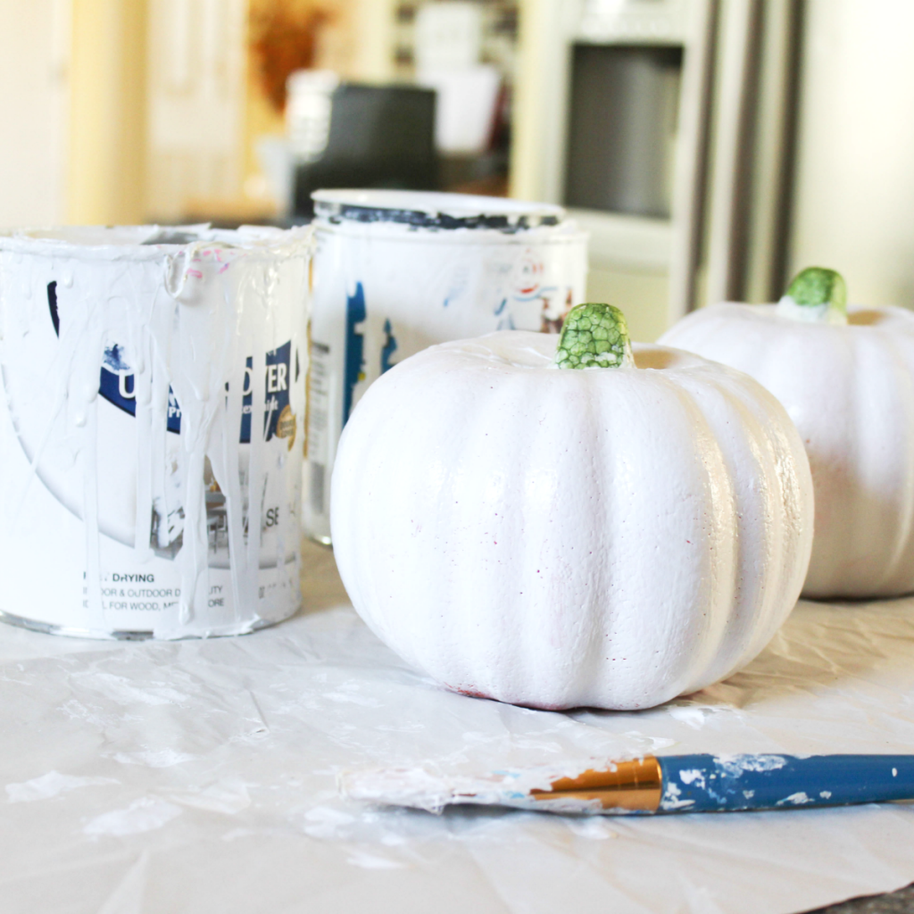 Painting Pumpkins - At Home With Zan -