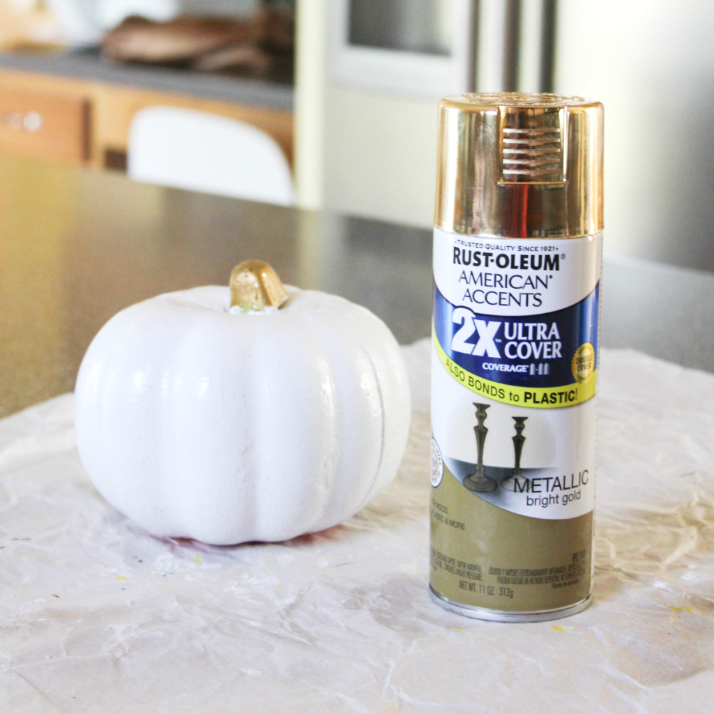 Painting Pumpkins -Rust-Oleum Spray Paint - At Home With Zan -