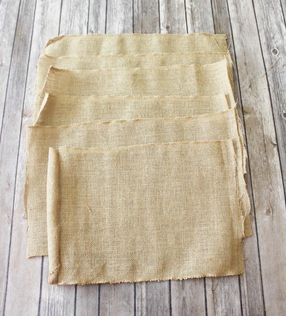 DIY Burlap Placemats - For Fall & Autumn - At Home With Zan