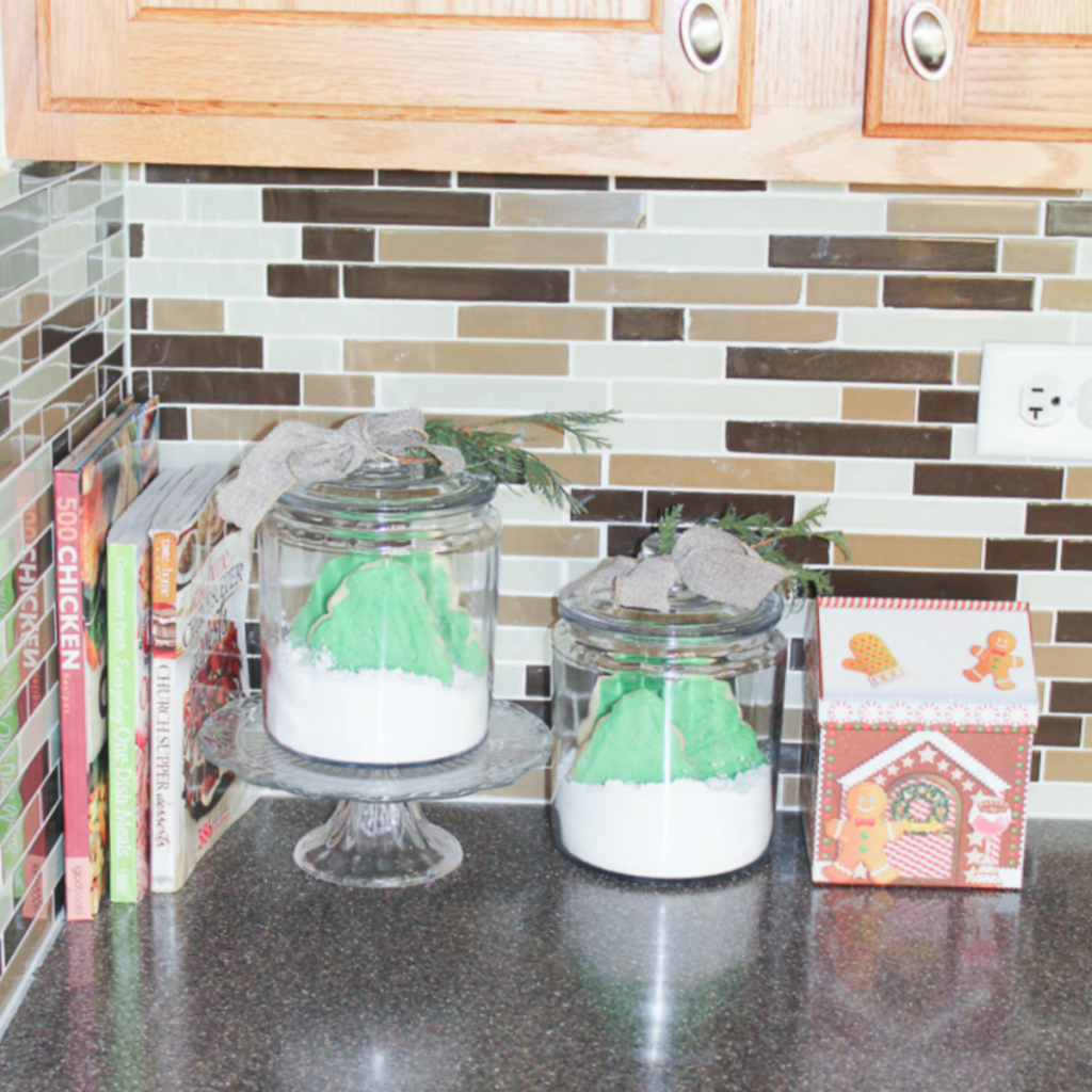 Christmas Cookie Village in Jars - At Home With Zan