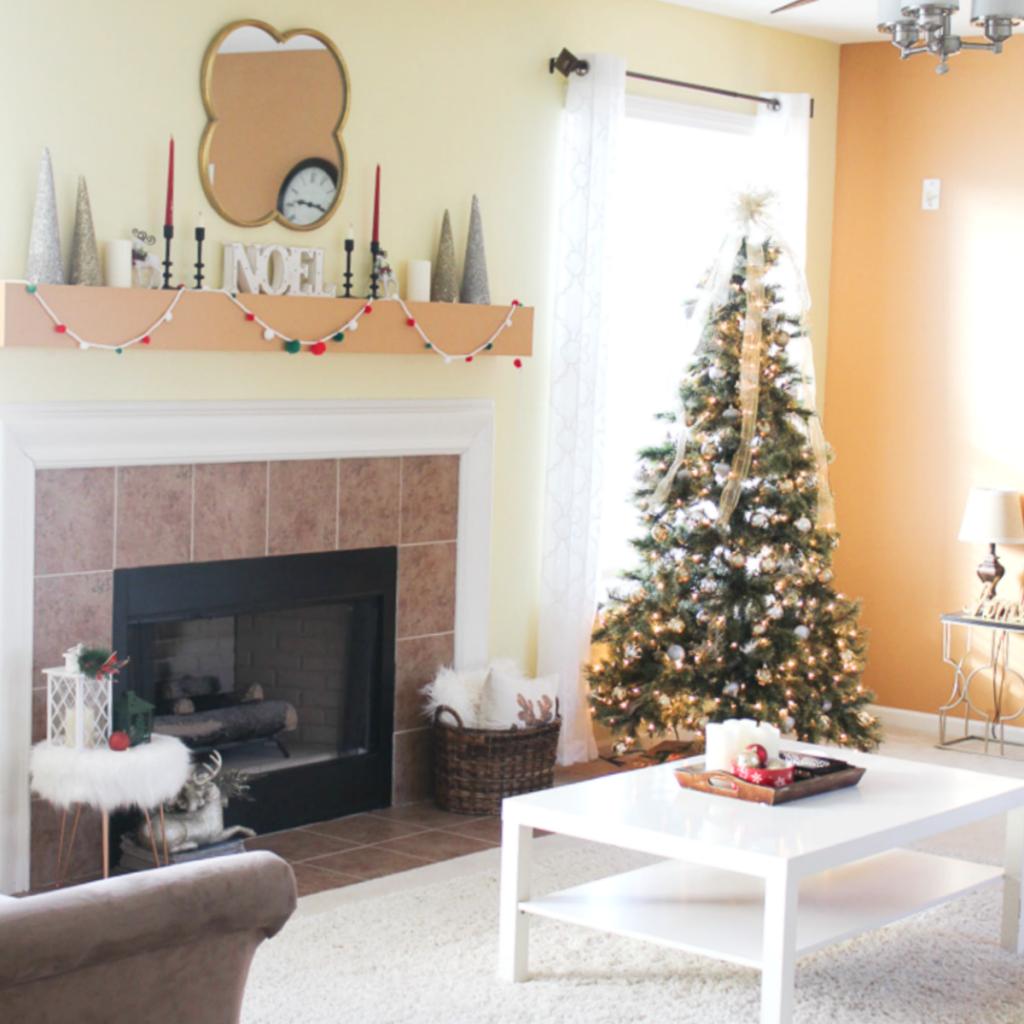 Christmas Living Room - At Home With Zan