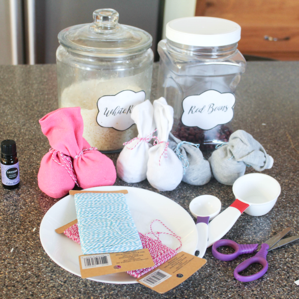 DIY Winter Hand Warmers - With Beans and Rice Fillers - At Home With Zan-