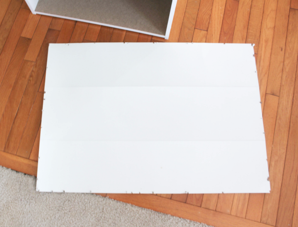 How to Restore a Broken Bookshelf - With New Cardboard Backing - At Home With Zan