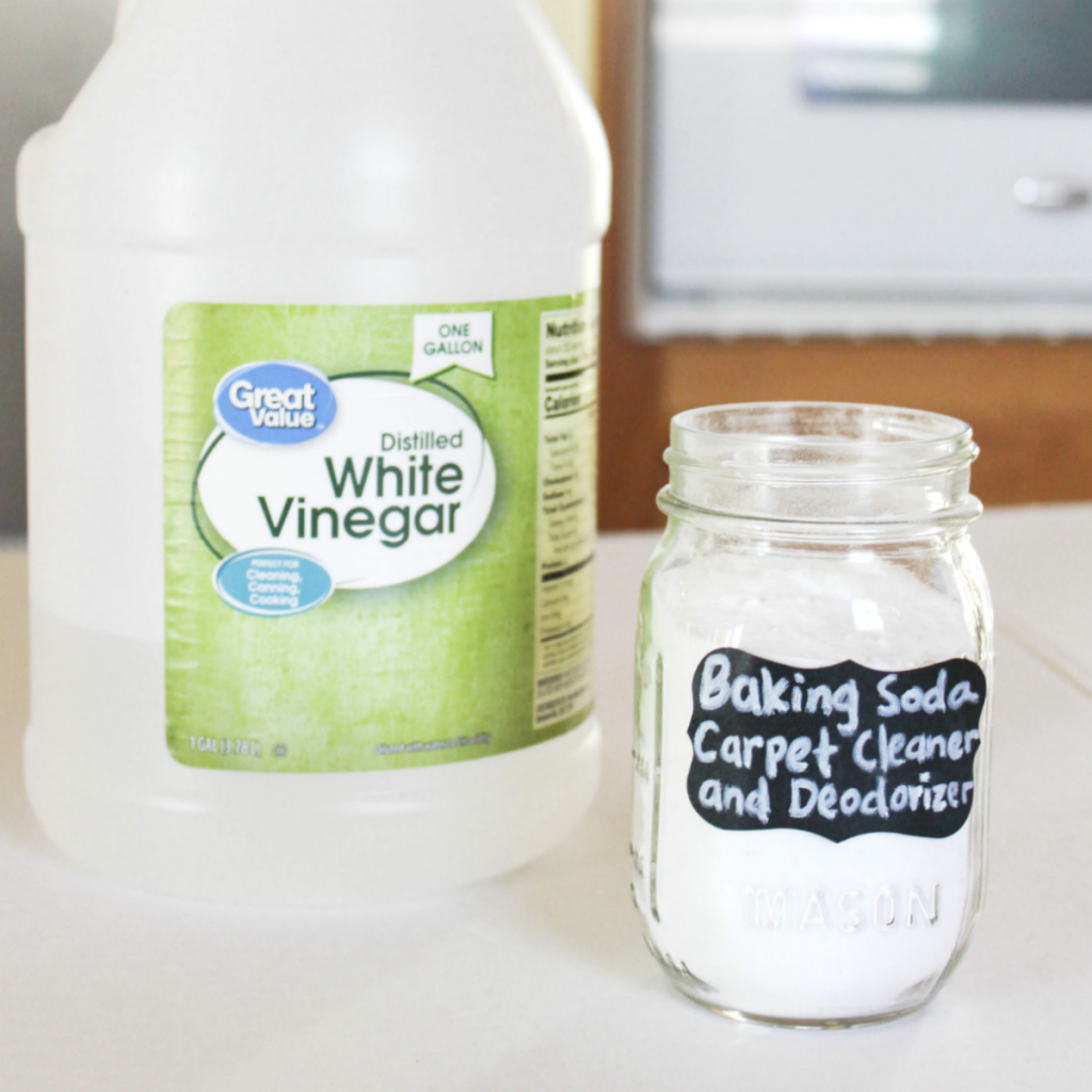 How to Clean and Deodorizer Your Carpet with Baking Soda - Baking Soda and Vinegar - At Home With Zan