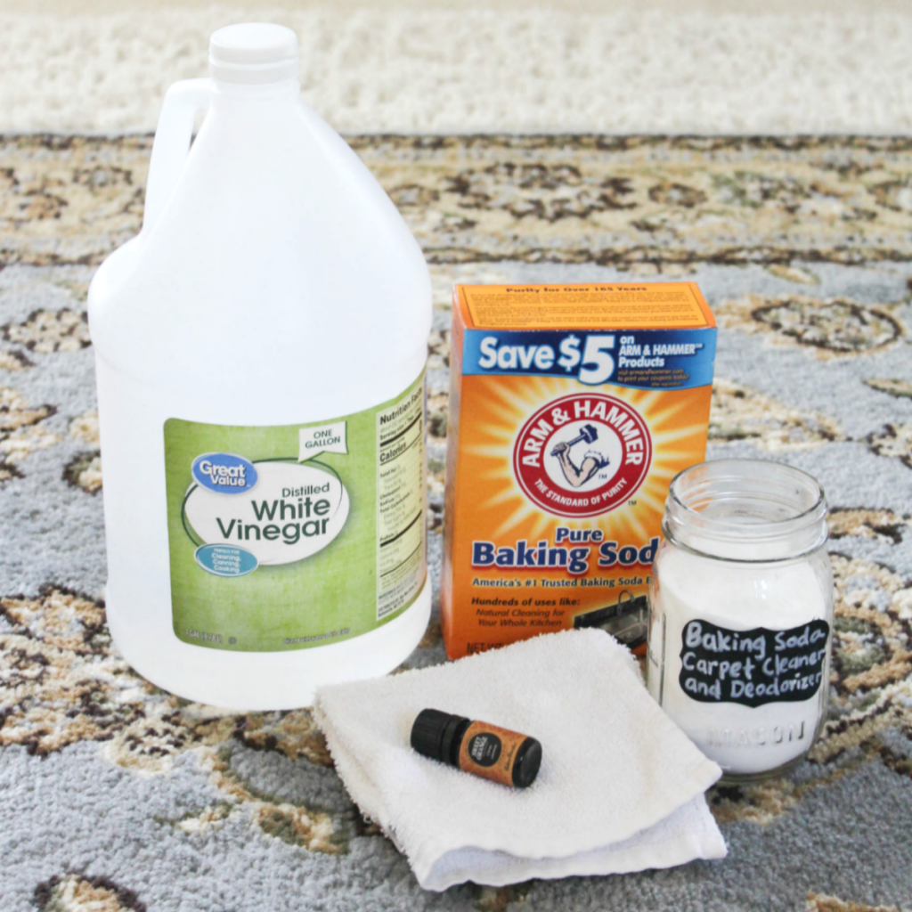 How to Clean and Deodorizer Your Carpet with Baking Soda - Natural Home Cleaning with Baking Soda - At Home With Zan