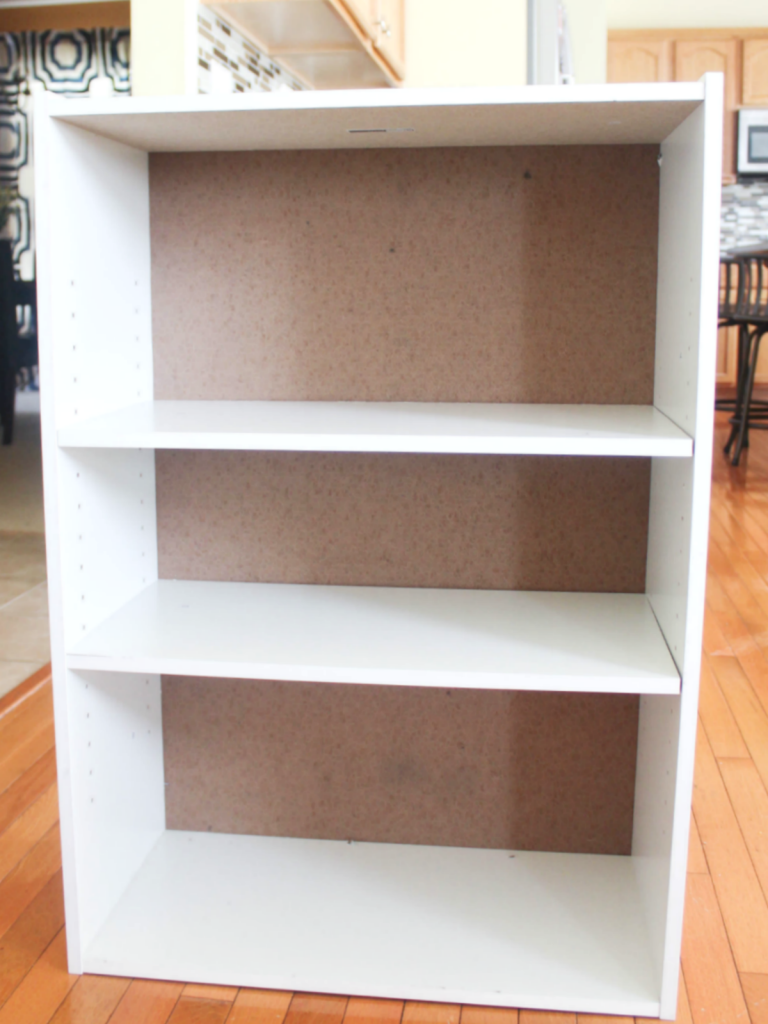 How to Restore a Broken Bookshelf - New Cardboard Backing - New Bookshelf - At Home With Zan-