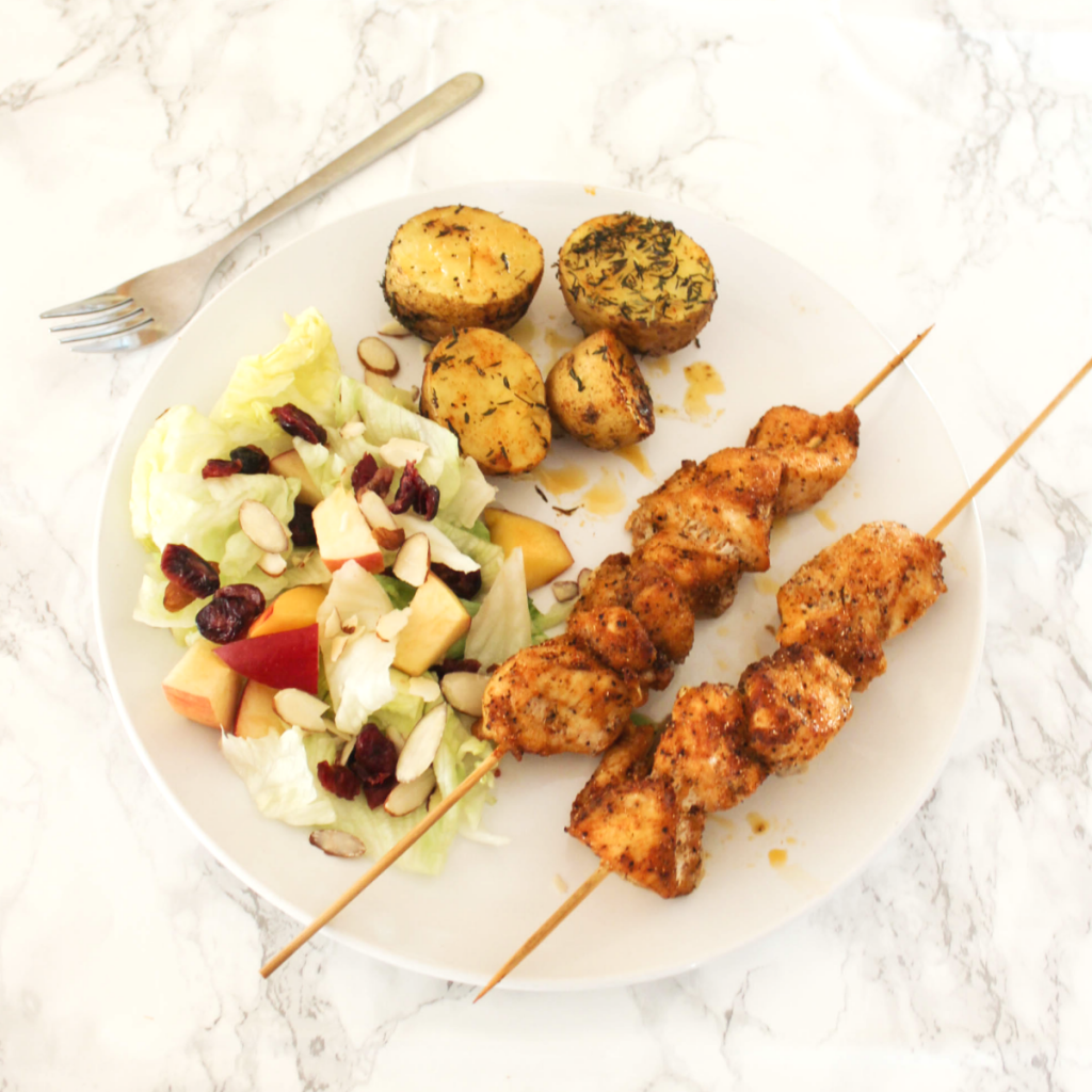 Oven Baked Chicken Skewers - At Home With Zan