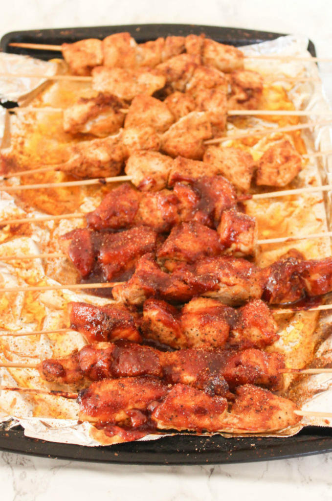 Oven - Baked - Chicken Skewers - Delicious - From At Home With Zan-