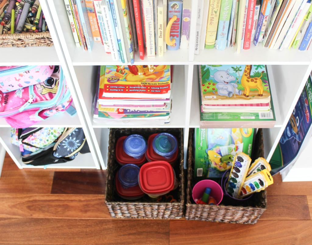 Kids Reading Center - Homework Center - Activity Center - Art and Playdough - At Home With Zan