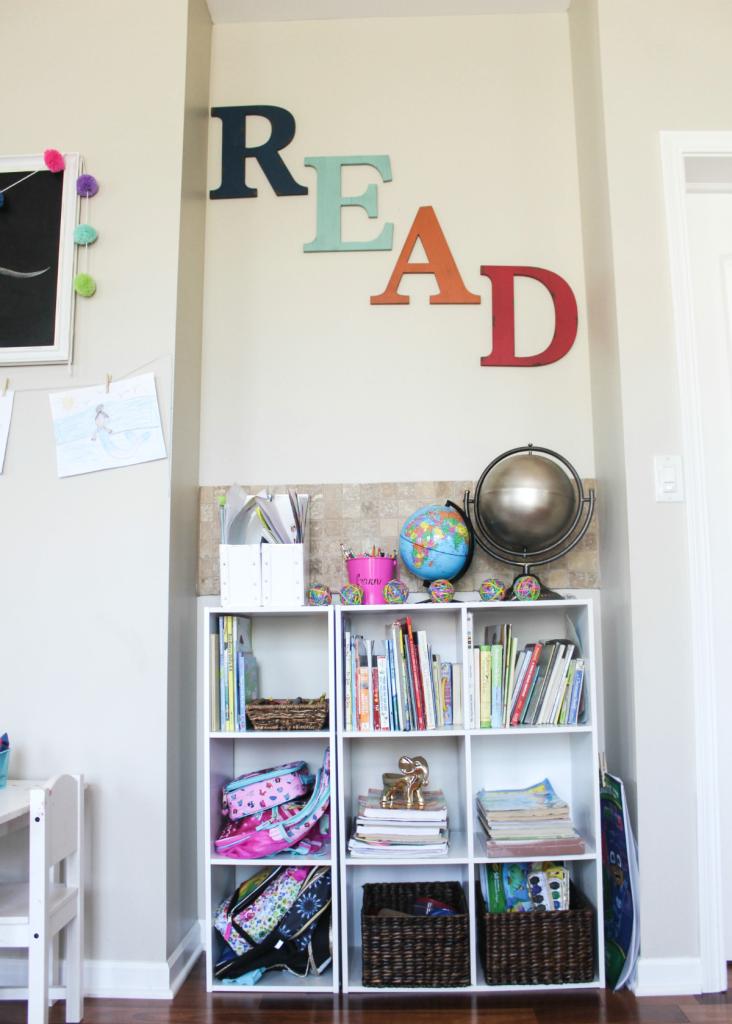 Kids Reading Center - Homework Center - Activity Center - At Home With Zan