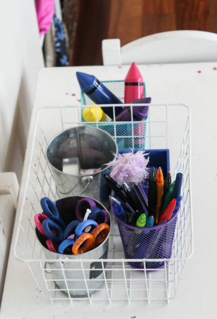 Kids Reading Center - Homework Center - Activity Center - Pencils - Pens - Colorful Pens - At Home With Zan