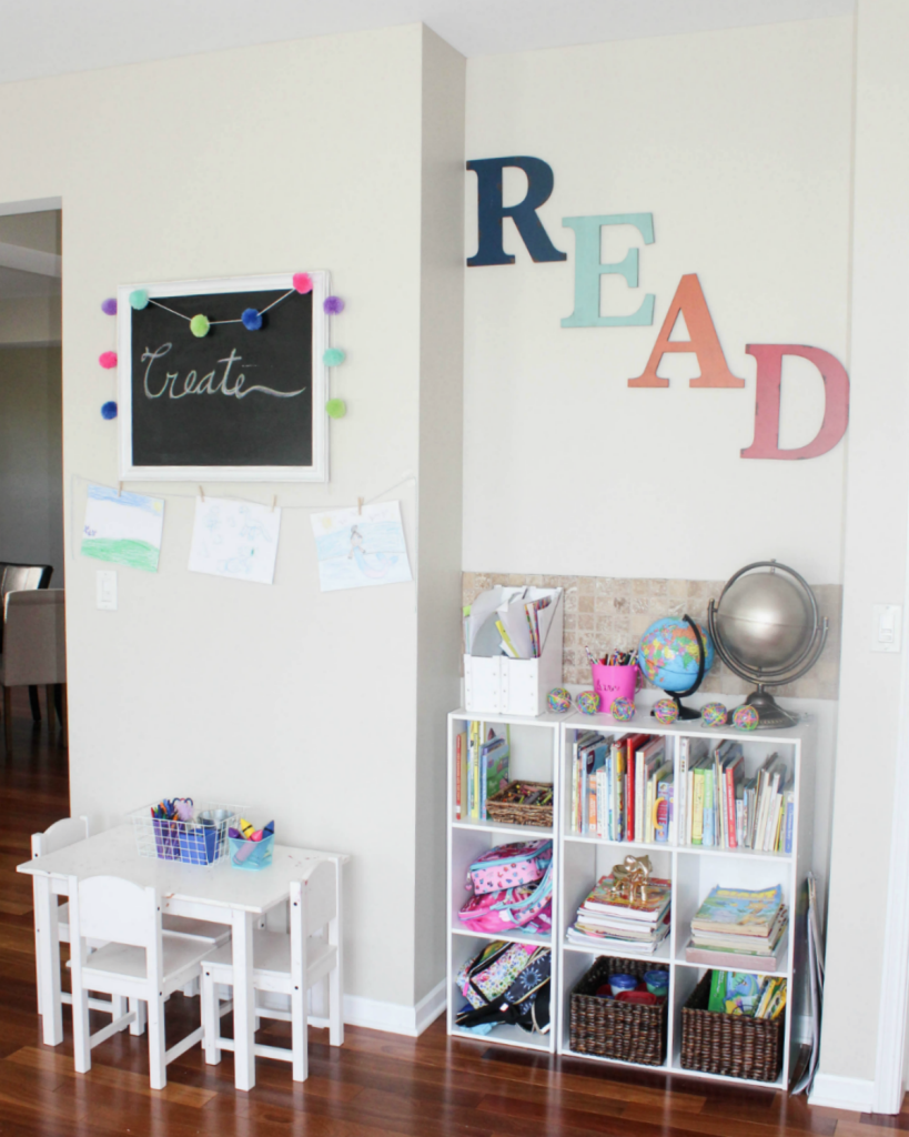Kids Reading Center - Homework Center - Read - Create - Learn - Activity Center - At Home With Zan