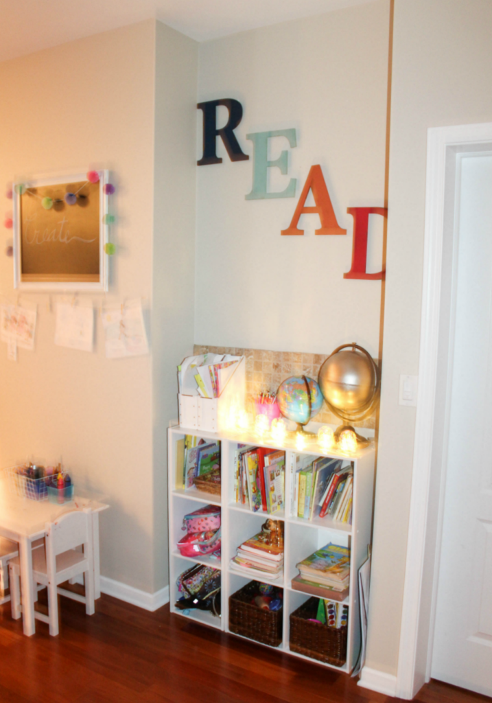 Kids Reading Center - Homework Station - Activity Center - At Home With Zan