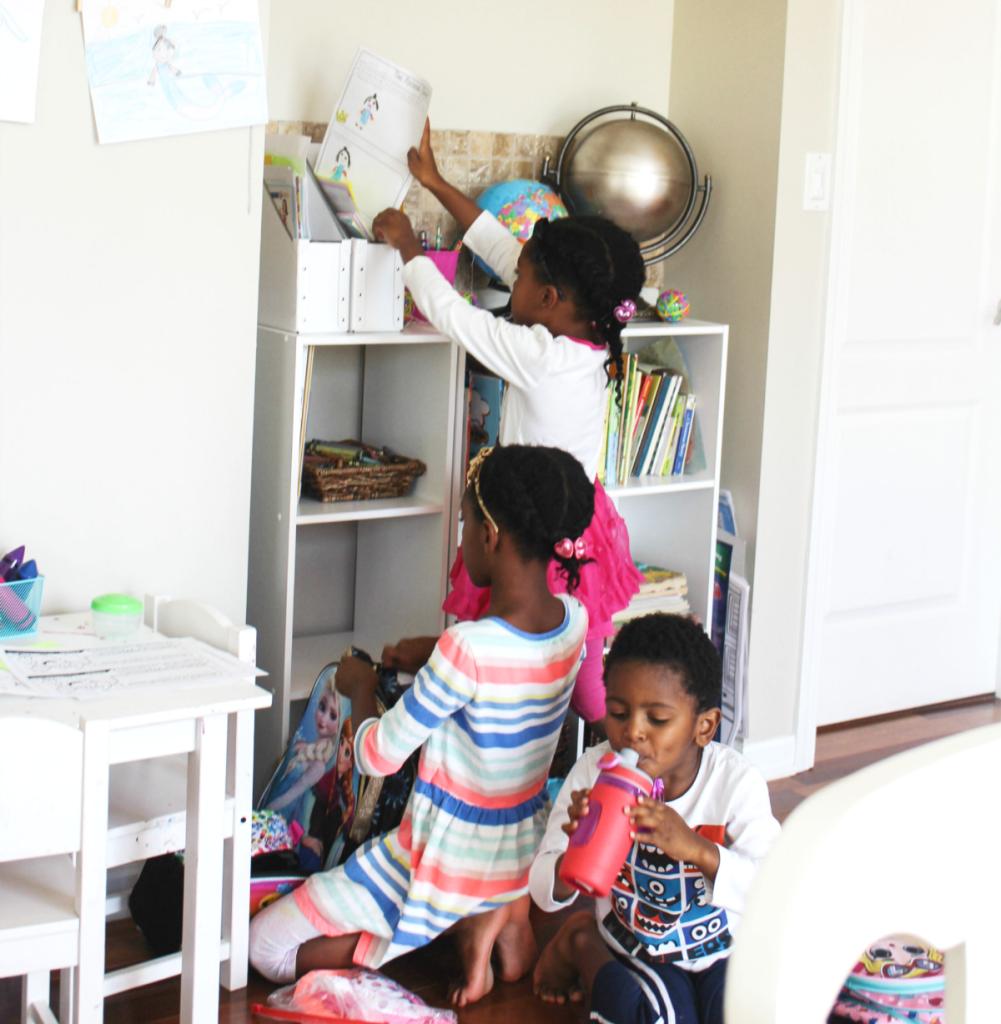 Kids Reading Center - Kids Homework Station - Homework Center - Activity Center - At Home With Zan