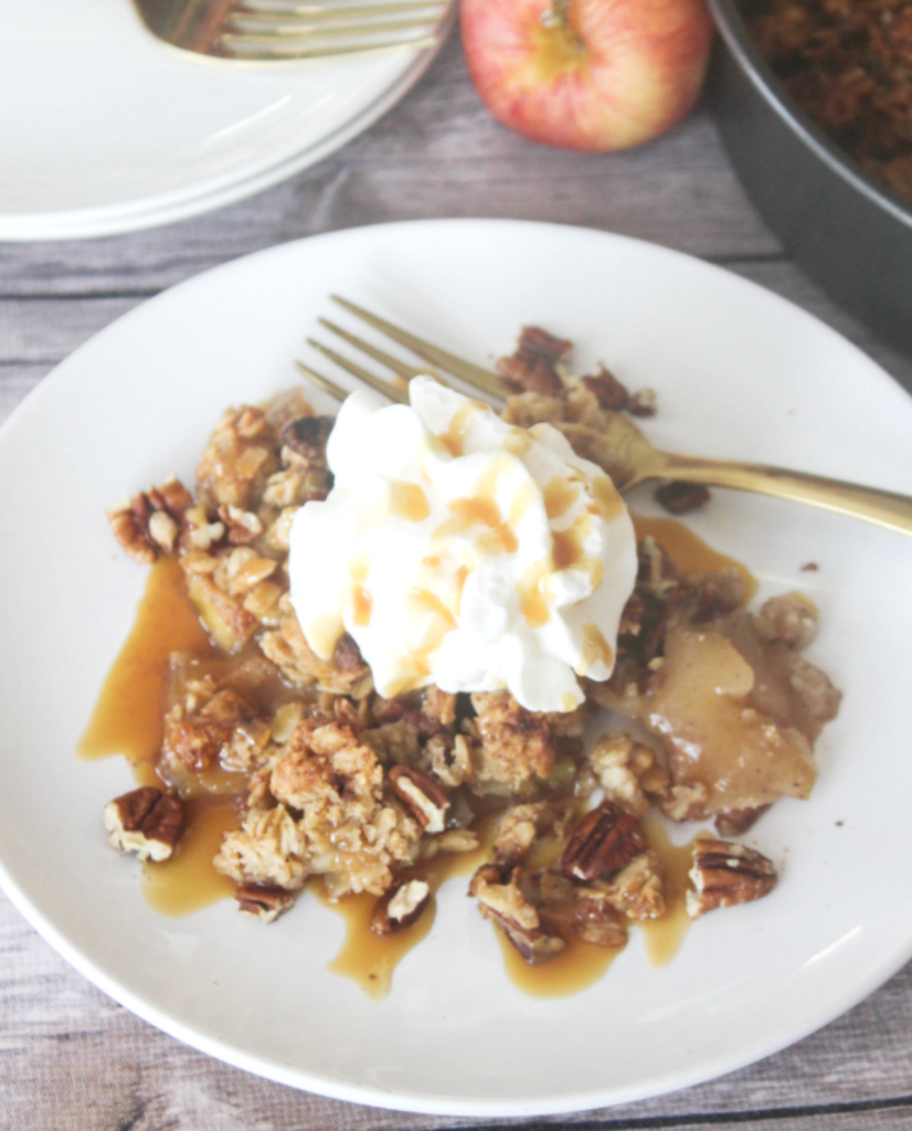 Healthy - Homemade Apple Crisp - At Home With Zan