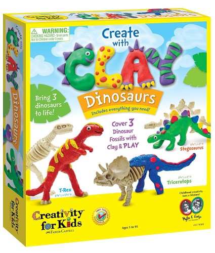 Create With Dinosaurs Moldeling Clay - Holiday Gifts for 3-5 Years Old - At Home With Zan