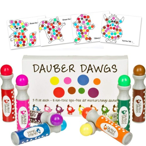 Washable Dot Markers - Holiday Gift Guide - Holiday Gifts for 3-5 Years Old - At Home With Zan