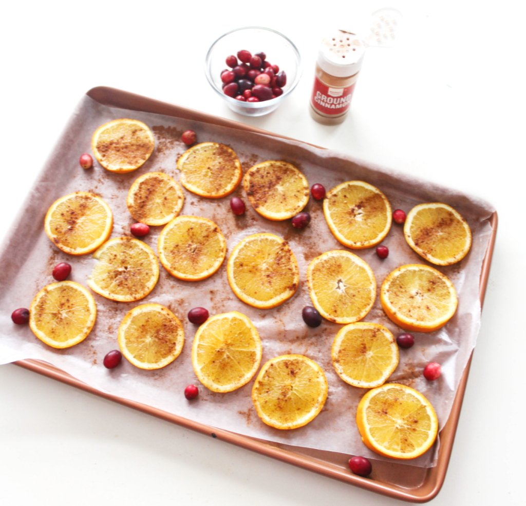 Dried - Cinnamon Orange Slices - With Cranberries - At Home With Zan -