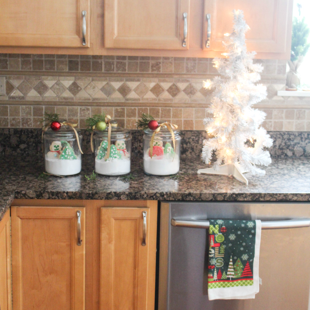 How to Create - Christmas Cookies in a Jar - for Gifting and Decorating - for the Holidays - Christmas Gifting - Holiday Decorating - At Home With Zan