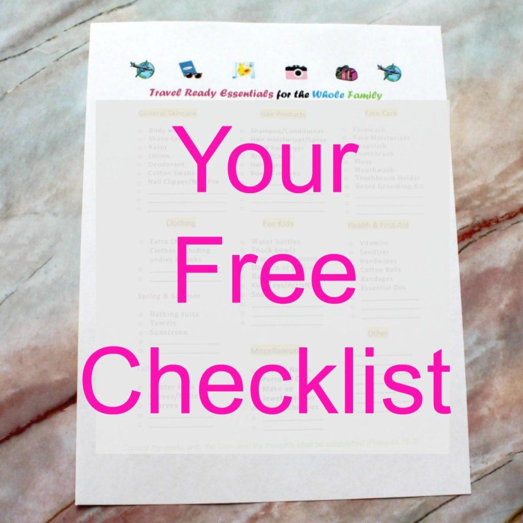 travel essentials checklist