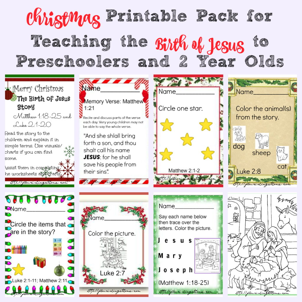 Christmas Printable Pack for Preschoolers and Two Year Olds