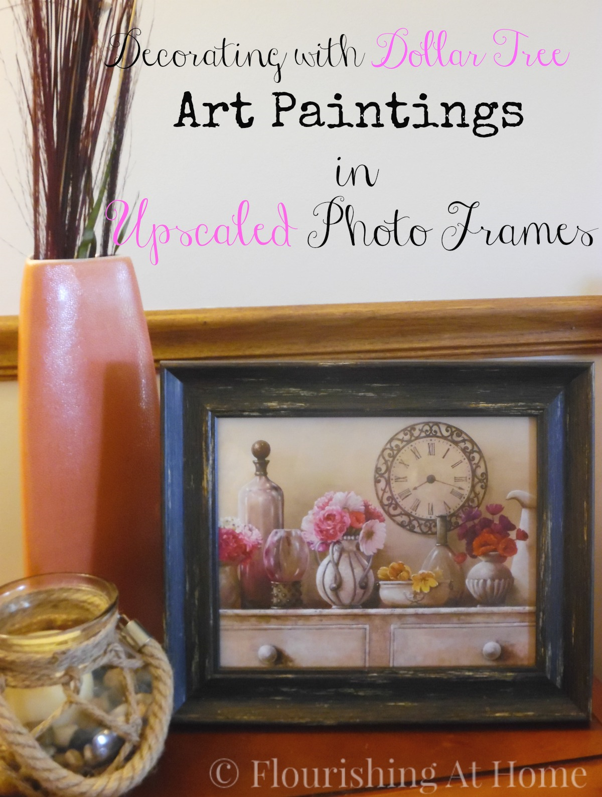 Decorating with dollar tree art paintings in upscaled photo frames decorating with dollar tree art paintings in upscaled photo frames at home with zan jeuxipadfo Images