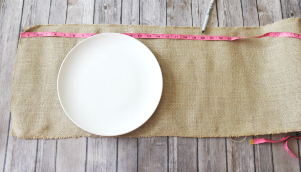 -DIY Burlap Placemats - Measurements - At Home With Zan-